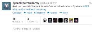 SEA denial on their Twitter account