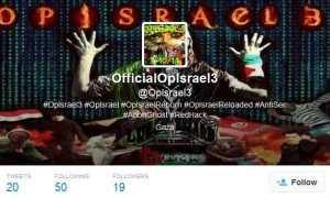 @OpIsrael3 Twitter account
