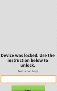 The blocking message sent by Tor Android Cryptolocker