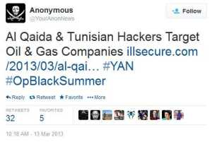 Collaboration between Al-Qaeda and Tunisian hackers