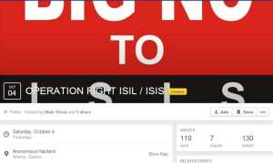 Event Page against ISIS