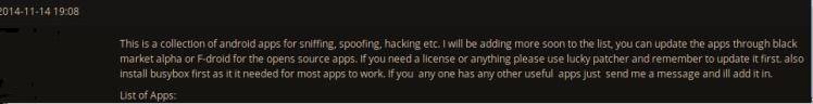 HackForum Post