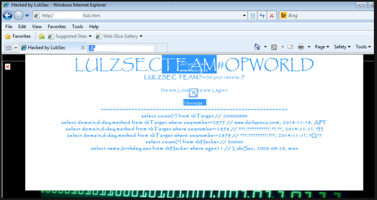 a Defaced Website