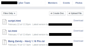 Open Facebook group of well-known Arab hackers