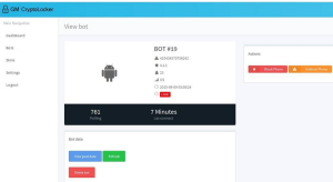 The interface of GM Cryptolocker – ransomware for mobile platforms