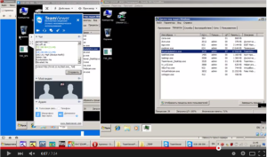 Screenshot from a video uploaded by the seller of TVSpy, a RAT based on TeamViewer software. The video presents the malware in action.