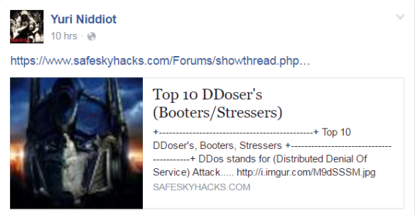 A call to use Booters on an #OpIcarus event page